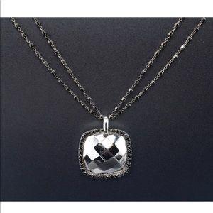 🆕 Charriol Solid 18k Gold Black Diamond Pendant